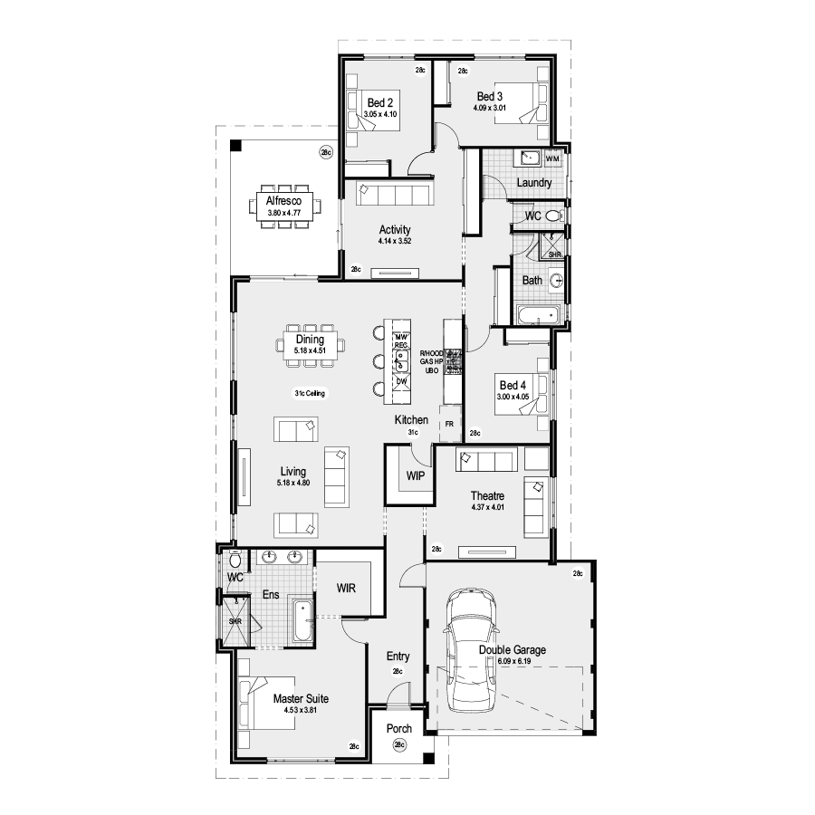 Meridian Choice Range 900x900 Floor Plan