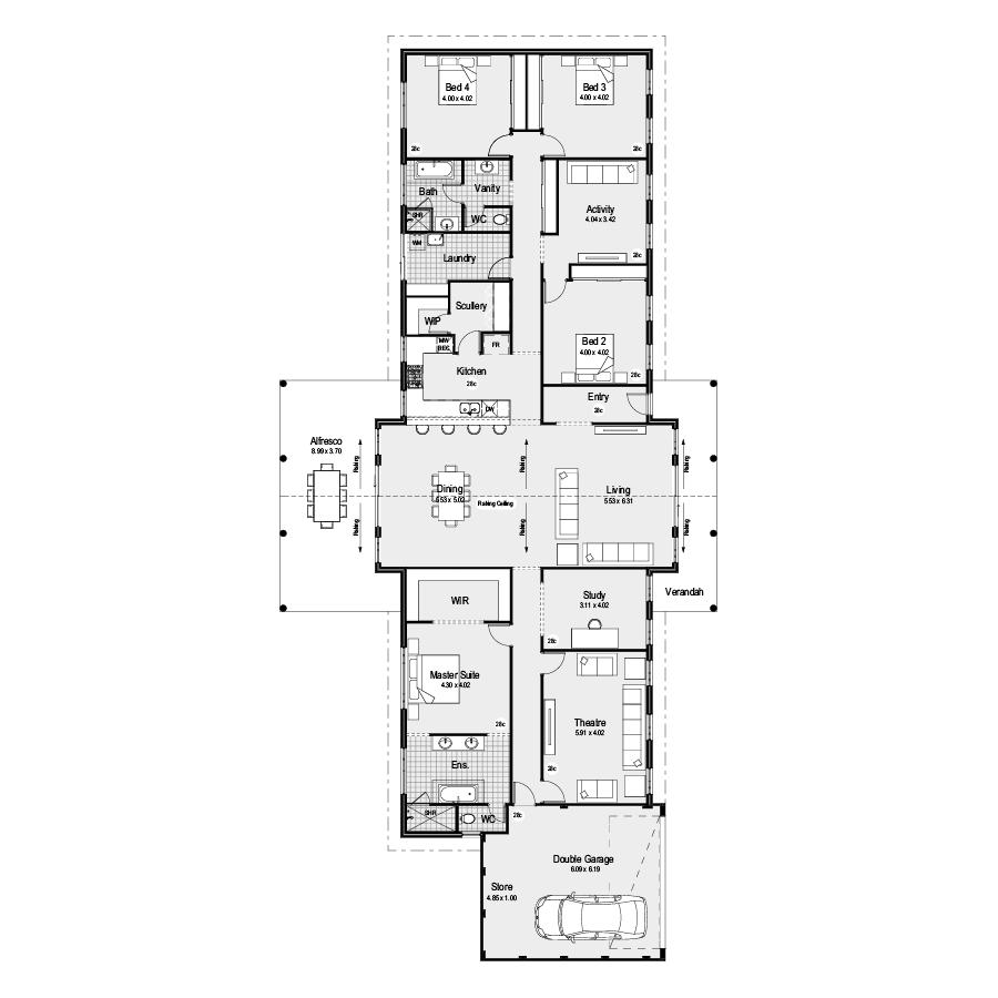 Drover Farmhouse Range 900x900 Floor Plan