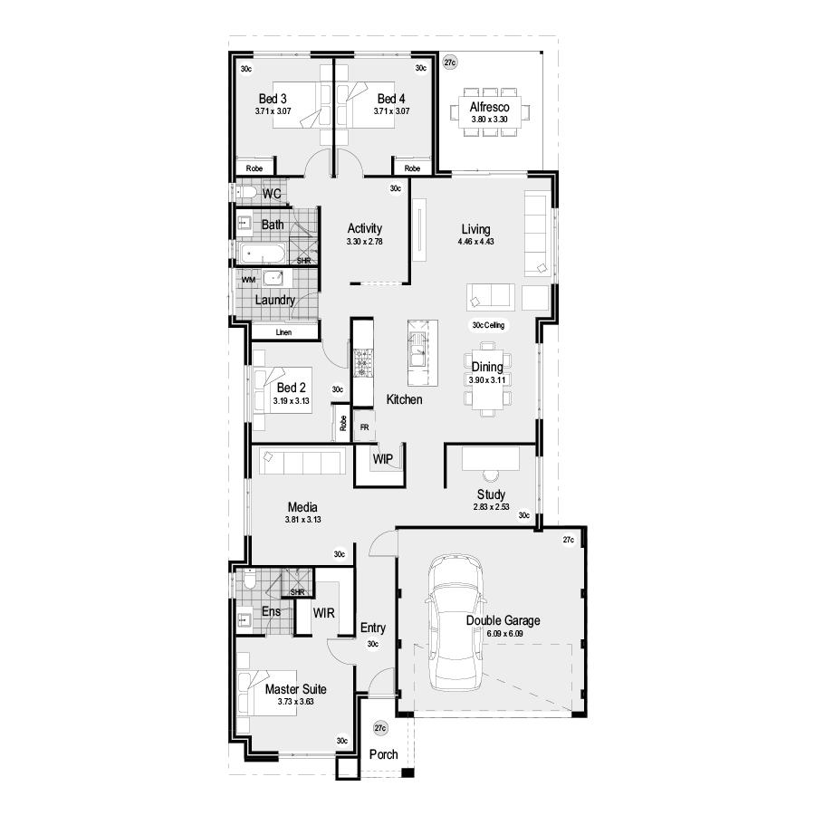Park FL125 Range 900x900 Floor Plan
