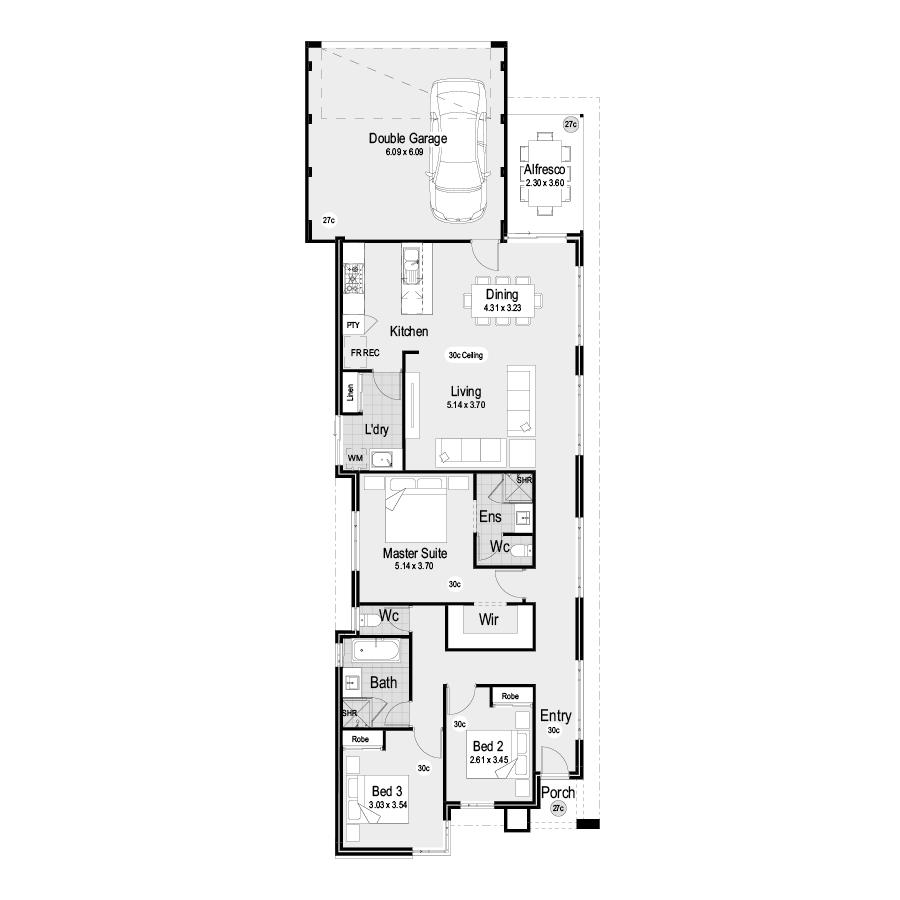 Park RL102 Park Range 900x900 Floor Plan