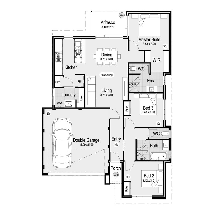 Park SQ125 Park Range 900x900 Floor Plan
