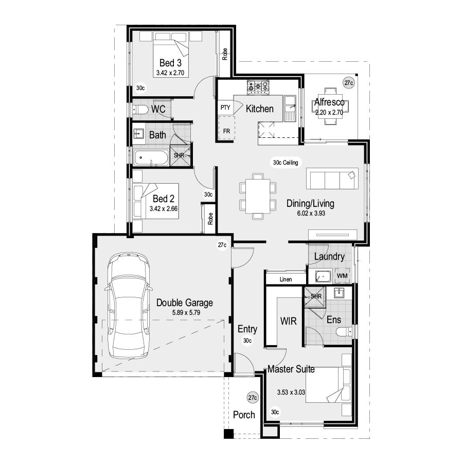 Park SQ1253 Park Range 900x900 Floor Plan