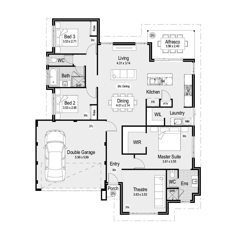 Park SQ15 Park Range 900x900 Floor Plan