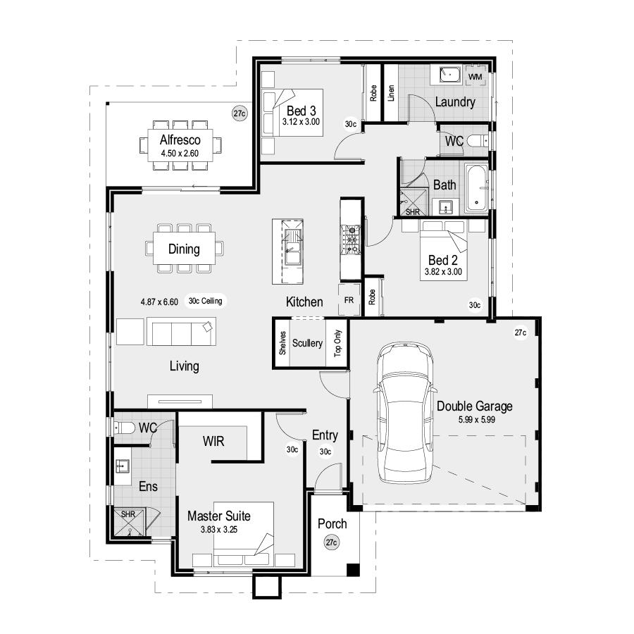 Park SQ151 Park Range 900x900 Floor Plan