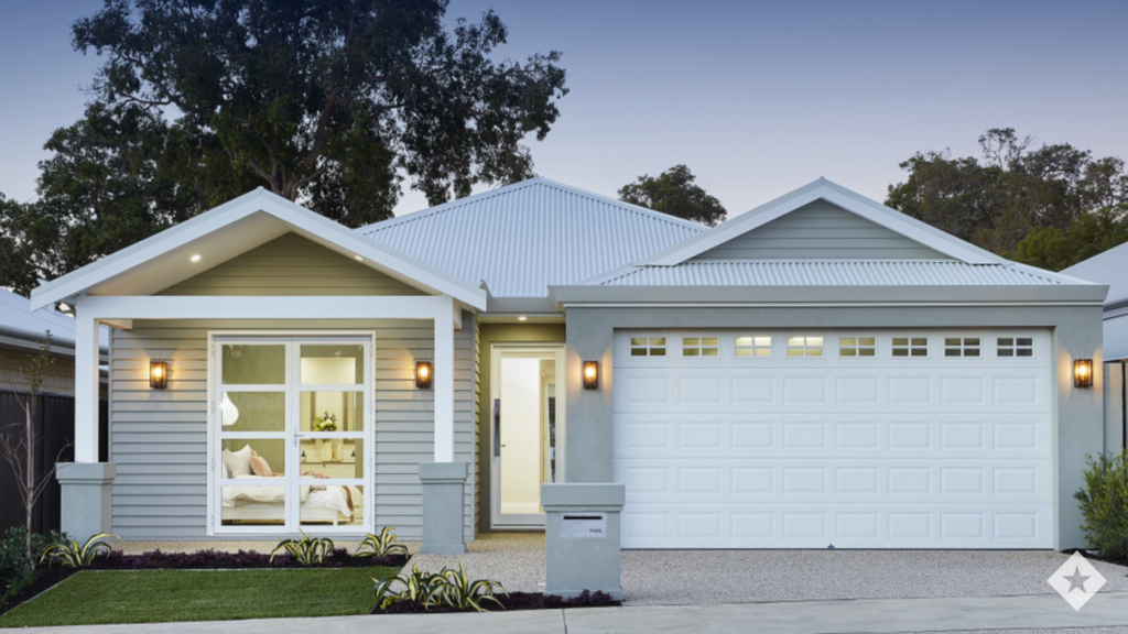 This image showcases the weatherboard cladding on The Fairbanks elevation.